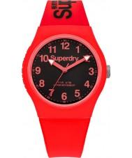 Superdry SYG164RB reloj de la correa de silicona roja urbana