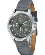 AVI-8 AV-4001-07 Para hombre reloj cronógrafo Hawker Hurricane II correa de cuero gris