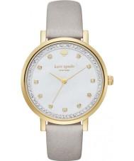 Kate Spade New York KSW1131 Señoras de Monterrey reloj de la correa de cuero gris