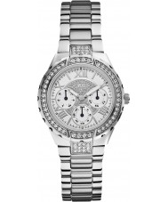 Guess W0111L1 Señoras viva de acero de plata reloj pulsera