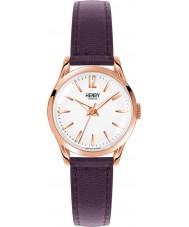 Henry London HL25-S-0072 Damas Hampstead reloj blanco púrpura
