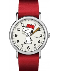 e023b8c6cece Timex TW2R41400 Reloj de fin de semana de Peanuts
