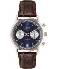 Rotary GS90130-05 Mens les originales deportes vengador azul reloj cronógrafo marrón