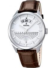 Festina F16873-1 Reloj para hombre de la correa de cuero marrón clásico