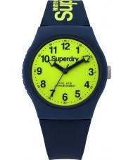 Superdry SYG164UN reloj de la correa de silicona azul marino urbana