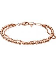 Fossil JA6776791 Señoras de la moda rosa pulsera de cuentas de oro de latón