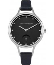 French Connection FC1274U reloj de la correa de cuero azul de las señoras