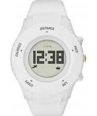 Adidas Performance ADP3204 reloj de la correa de silicona de color blanco mate Sprung