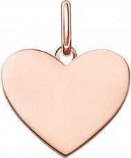 Thomas Sabo LBPE0002-415-12 Damas puente del amor de 18 quilates de oro rosa colgante plateado