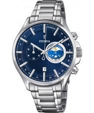 Festina F6852-2 Para hombre reloj cronógrafo de plata