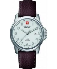 Swiss Military 6-4231-04-001 Reloj para hombre de la correa de cuero marrón primer soldado suizo