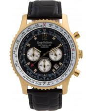 Krug-Baumen 600206DS reloj de diamantes viajero aéreo para hombre