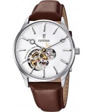 Festina F6846-1 Para hombre reloj automático de la correa de cuero marrón