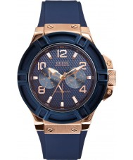 Guess W0247G3 Para hombre de rigor reloj azul de la correa de silicona