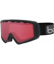 Bolle 21500 Z5 OTG negro brillante - gafas de esquí arma Vermillon