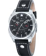 AVI-8 AV-4009-02 reloj de la correa de cuero negro para hombre Hawker Hunter