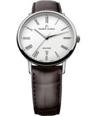 Maurice Lacroix LC6067-SS001-110 Mens les classiques tradición de blancos automático, el acero y el reloj marrón