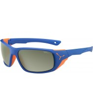 Cebe JORASSES azul naranja mate grande gafas de sol de espejo variochrom pico de flash