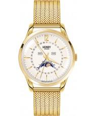 Henry London HL39-LM-0160 reloj de oro champán pálido Westminster