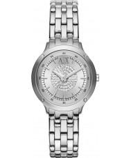 Armani Exchange AX5415 Las señoras de piedra situada reloj de vestir pulsera de plata