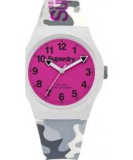 Superdry SYG164EP reloj de la correa de silicona gris camo urbano
