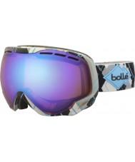 Bolle 21304 gris emperador y Argyle azul - gafas de esquí aurora