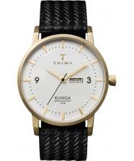 Triwa KLST103-GC010113 Marfil Klinga de cuero negro reloj de la correa