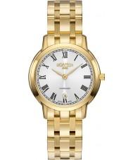 Roamer 515811-48-22-50 Damas superslender reloj de pulsera de acero de oro