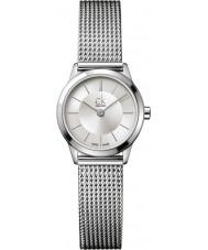 Calvin Klein K3M23126 Señoras del reloj de plata mínimo