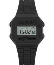 Superdry SYG201E retro reloj de la correa para hombre digi de silicona gris