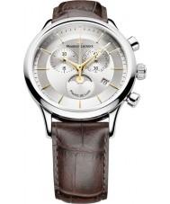 Maurice Lacroix LC1148-SS001-132 Mens les classiques metálicos y marrones fases en dos tonos de Watch lune