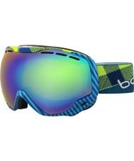 Bolle 21305 Emperador azul y verde a cuadros - gafas de esquí de color verde esmeralda