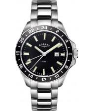 Rotary GB05017-04 reloj de acero tono de plata para hombre de los relojes La Habana