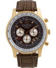 Krug-Baumen 600213DS reloj de diamantes viajero aéreo para hombre