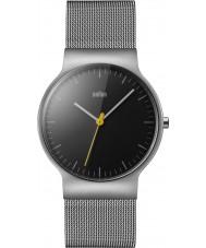 Braun BN0211BKSLMHG Reloj para hombre delgado clásico brazalete de malla de acero de plata