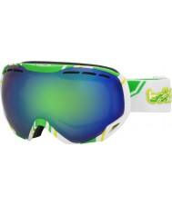 Bolle 21141 Emperador y blanco de cal - gafas de esquí de color verde esmeralda