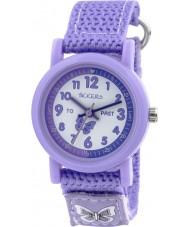 Tikkers TK0111 reloj de correa de nylon púrpura niñas