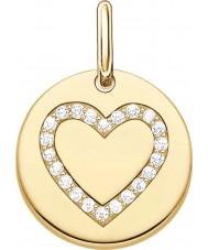 Thomas Sabo LBPE0005-414-14 Amor de las señoras de 18 quilates de oro amarillo puente colgante plateado