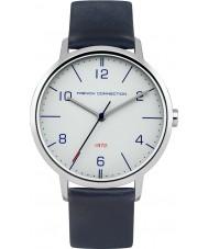French Connection FC1277U Reloj para hombre de la correa de cuero azul