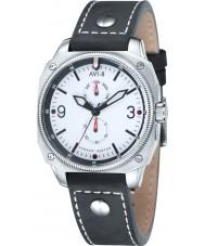 AVI-8 AV-4010-01 reloj de la correa de cuero negro para hombre Hawker Hunter