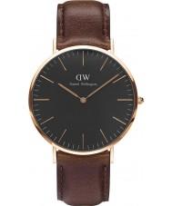 Daniel Wellington DW00100125 Reloj clásico negro 40mm Bristol