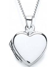 Purity 925 PUR0872-3 Damas collar cerrado el corazón de plata liso