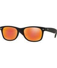 RayBan RB2132 52 nuevos de caucho negro caminante 622-69 gafas de sol de espejo de color rojo
