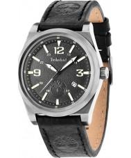 Timberland 14641JSU-02 Mens knowles reloj de la correa de cuero negro