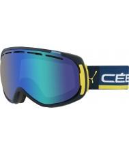 Cebe CBG125 Siente en azul y amarillo - azul gafas de esquí de flash de color marrón