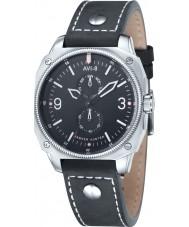 AVI-8 AV-4010-02 reloj de la correa de cuero negro para hombre Hawker Hunter