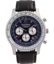 Krug-Baumen 600508DS reloj de diamantes viajero aéreo para hombre
