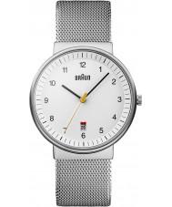 Braun BN0032WHSLMHG Reloj para hombre blanco de plata