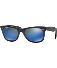 RayBan RB2140 50 caminante original de la parte superior del gradiente azul en azul 120368 gafas de sol de espejo de color azul claro