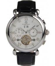 bb25a527c3c9 Edward East EDW5340G3 Reloj para hombre automático de la correa de cuero  negro clásico
